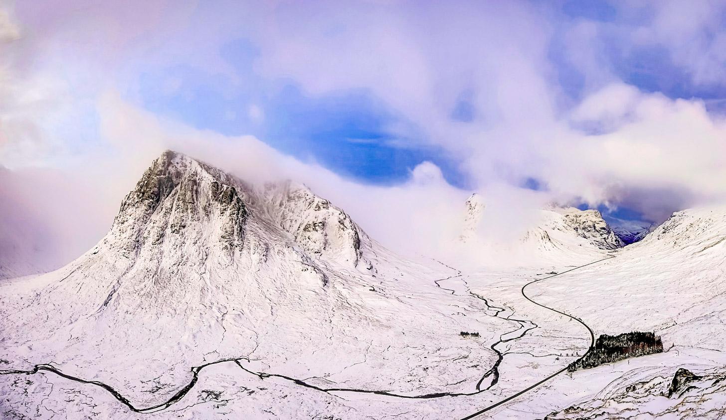 Schotse Hooglanden in de winter